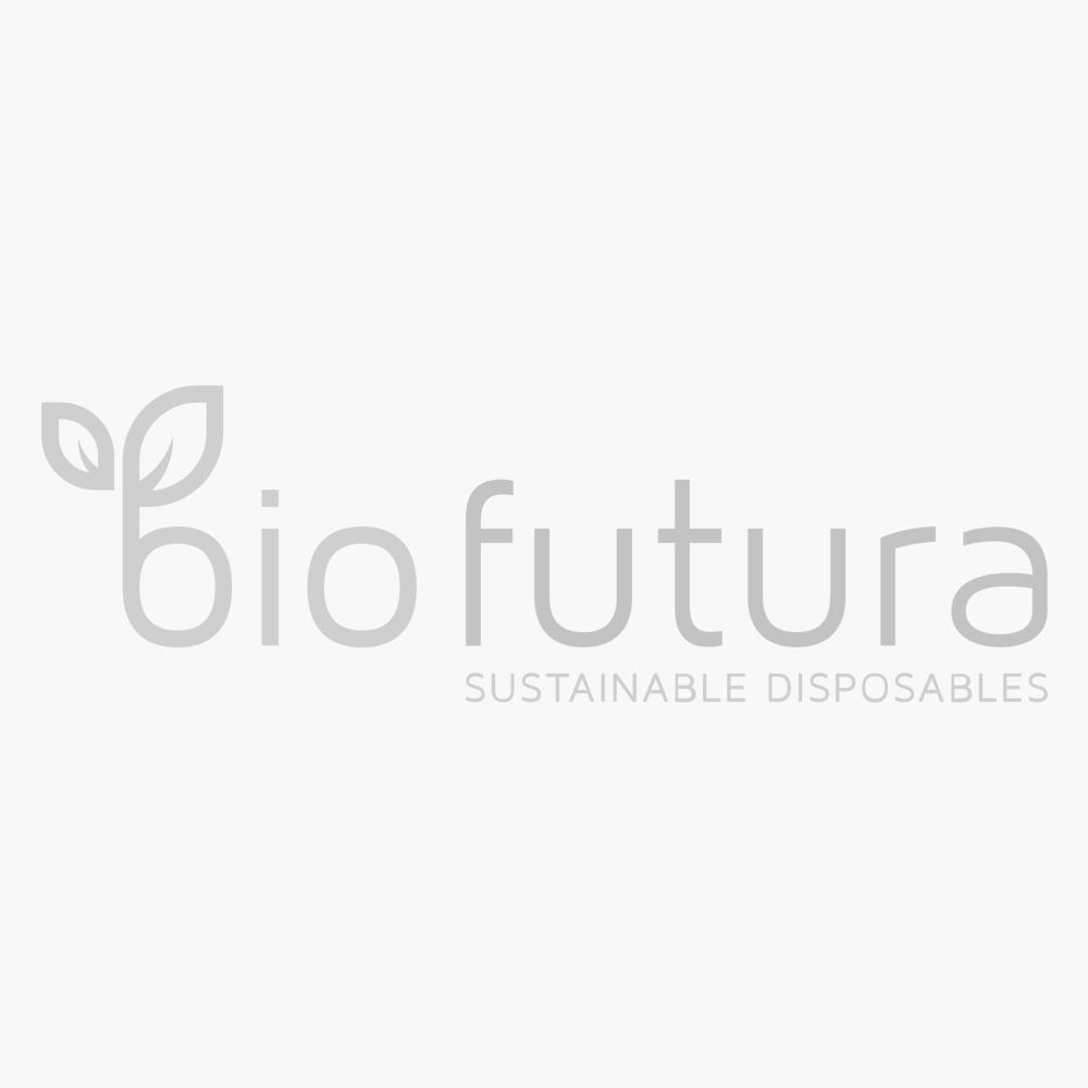 Couvercle noir biodégradable pour gobelet à café 24cl - par 50